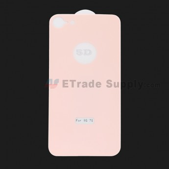 For Apple iPhone 7 / iPhone 8 Rear Housing Tempered Glass Screen Protector - Pink - Grade R