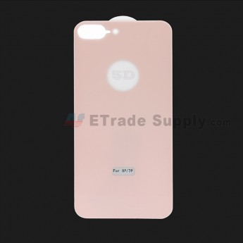 For Apple iPhone 7 Plus / iPhone 8 Plus Rear Housing Tempered Glass Screen Protector - Pink - Grade R