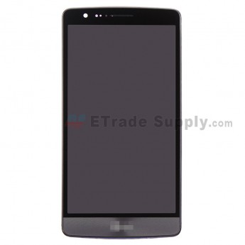 For LG G3 S D722 LCD Screen and Digitizer Assembly with Front Housing Replacement (With Small Parts) - Gray - With Logo - Grade S+