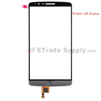 For LG G3 D850 Digitizer Touch Screen Replacement - Gray - With Logo - Grade S+
