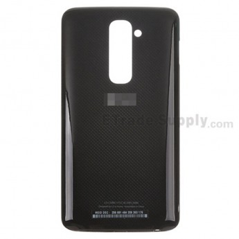 For LG G2 LS980 Battery Door Replacement - Black - With Logo - Grade S+