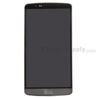 For LG G3 D850 LCD Screen and Digitizer Assembly with Front Housing Replacement - Gray - With Logo - Grade S+