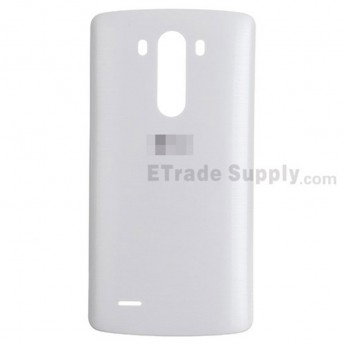 For LG G3 LS990 Battery Door Replacement - White - With Logo - Grade S+