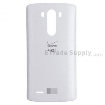 For LG G3 VS985 Battery Door Replacement - White - With Logo - Grade S+