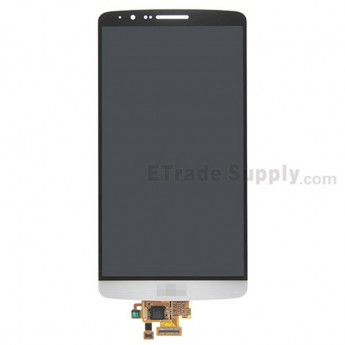 For LG G3 D850 LCD Screen and Digitizer Assembly Replacement - White - With Logo- Grade S+