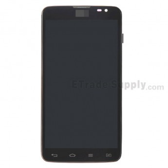 For LG G Pro Lite Dual D685 LCD Screen and Digitizer Assembly with Front Housing Replacement - Black - With Logo - Grade S+