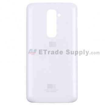 For LG G2 D800 Battery Door Replacement - White - With Logo - Grade S+