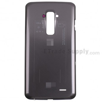 For LG G Flex D950 Battery Door Replacement - Black - With Logo - Grade S+