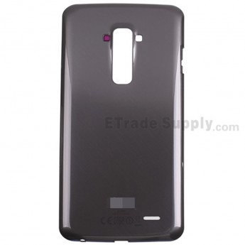 For LG G Flex D955 Battery Door Replacement - Black - With Logo - Grade S+