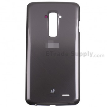 For LG G Flex D956 Battery Door Replacement - Black - With Logo - Grade S+