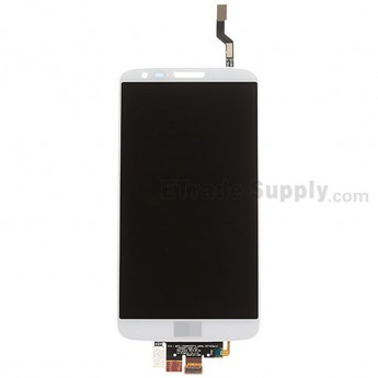 For LG G2 D802 LCD Screen and Digitizer Assembly Replacement - White - With Logo - Grade S+