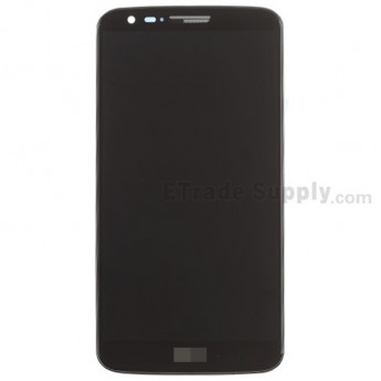 For LG G2 D802 LCD Screen and Digitizer Assembly with Front Housing Replacement - Black - With Logo - Grade S+