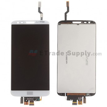 For LG G2 VS980 LCD Screen and Digitizer Assembly Replacement - White - With Logo - Grade S+