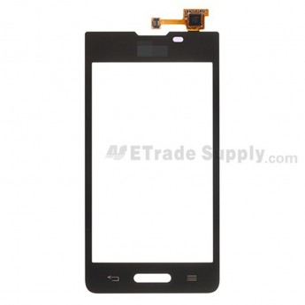 For LG Optimus L7 II P710 Digitizer Touch Screen Replacement - Black - Grade S+