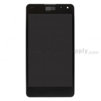 For LG  LS970 LCD Screen and Digitizer Assembly with Front Housing and Battery Replacement - Black - With LG Logo - Grade S+