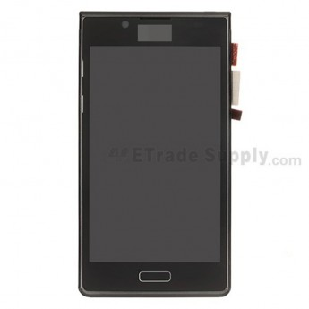 For LG Optimus L7 P700/P705 LCD &Digitizer Assembly with Front Housing Replacement - Black - With Logo - Grade S+