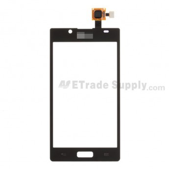 For LG Venice LG730 Digitizer Touch Screen Replacement - Black - With Logo - Grade S+