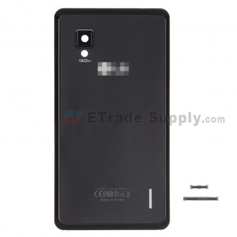 For LG Optimus G E975 Battery Door Replacement  - Black - Grade S+