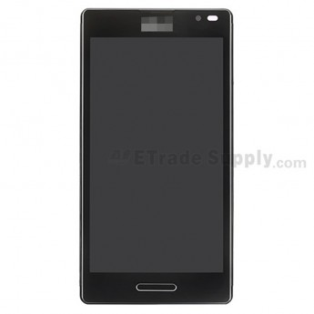 For LG Optimus L9 P760/P768 LCD Screen and Digitizer Assembly with Frong Housing Replacement - Black - Grade S+