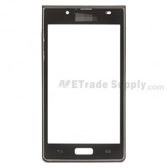 For LG Optimus L7 P700, P705 Digitizer Touch Screen with Front Housing Replacement ,Black - Grade S+