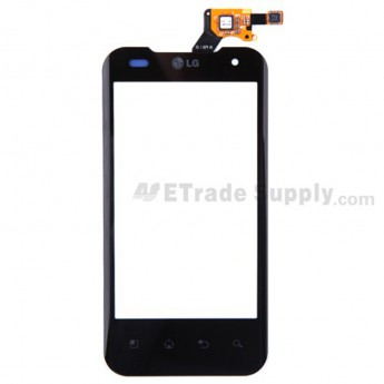 For LG Optimus 2X P990 Digitizer Touch Screen without Adhesive Replacement - Black - Grade A