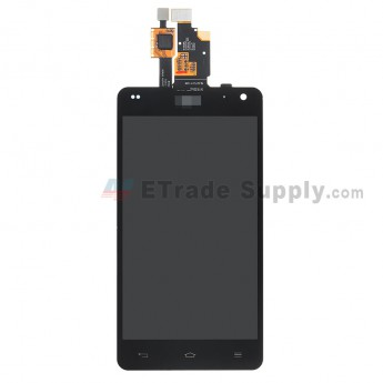 For LG Optimus G LS970 LCD Screen and Digitizer Assembly  Replacement - Black - With Logo - Grade S+