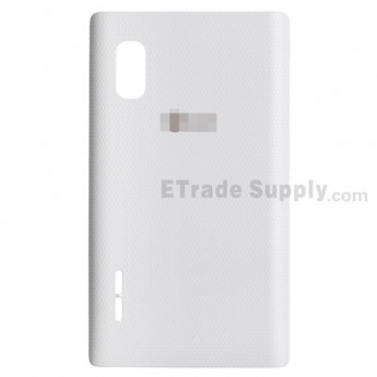 For LG Optimus L5 E610 Battery Door  Replacement - White - With Logo - Grade S+