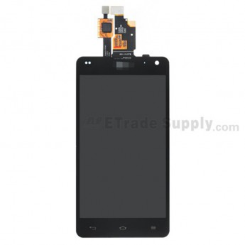 For LG Optimus G E973 LCD Screen and Digitizer Assembly  Replacement - Black - With Logo - Grade S+