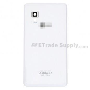 For LG Optimus G E975 Battery Door Replacement  - White - Grade S+