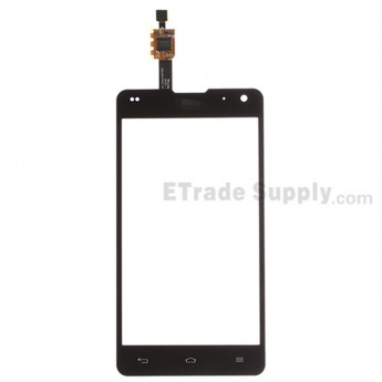 For LG Optimus G LS970 Digitizer Touch Screen Replacement - Black - With LG Logo