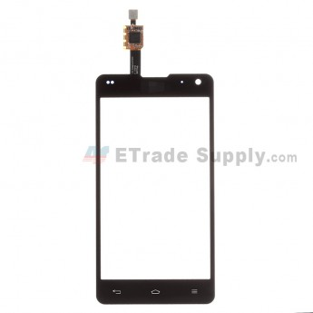 For LG Optimus G F180 Digitizer Touch Screen Replacement - Black - With LG Logo
