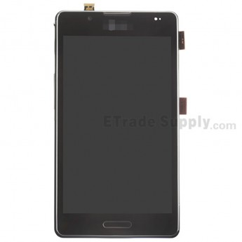 For LG Optimus L7 II P710 LCD Screen and Digitizer Assembly with Front Housing Replacement - Black - With Logo - Grade S+