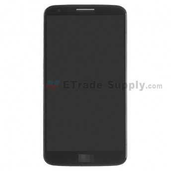 For LG G2 D800 LCD Screen and Digitizer Assembly with Front Housing and Battery Replacement - Black - With Logo - Grade S+
