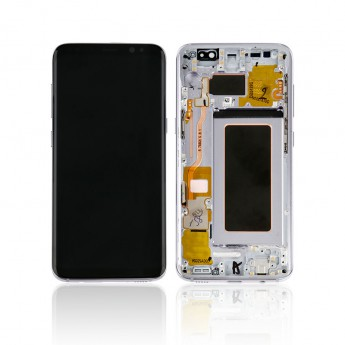 For Samsung Galaxy S8 Series LCD Screen and Digitizer Assembly with Front Housing Replacement - Purple - Without Logo - Grade S
