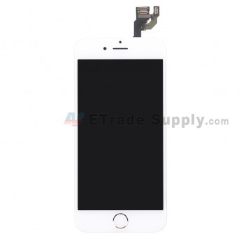 For Apple iPhone 6 LCD Screen and Digitizer Assembly with Frame and Home Button Replacement - Gold - Grade A