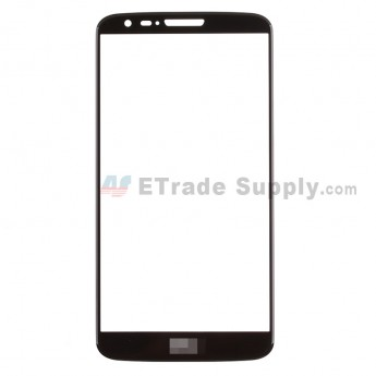 For LG G2 D800 Glass Lens Replacement - Black - With Logo - Grade S+