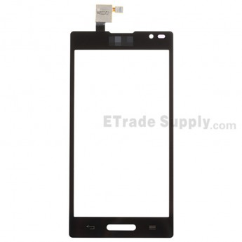 For LG Optimus L9 P760, P768 Digitizer Touch Screen Replacement - Black - With Logo - Grade S+