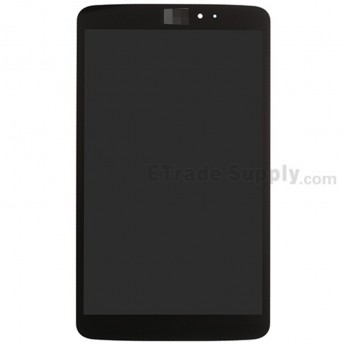 For LG G Pad 8.3 V500 LCD Screen and Digitizer Assembly Replacement - Black - With Logo - Grade S+