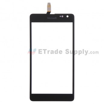 For Microsoft Lumia 535 Dual SIM Digitizer Touch Screen  Replacement (2C Version) - Black - With Logo - Grade S+