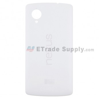For LG Nexus 5 D821 Battery Door Replacement - White - Grade S+