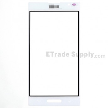 For LG Optimus L9 P760, P768 Glass Lens Replacement - White - With Logo - Grade S+