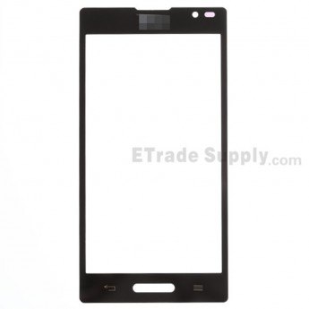 For LG Optimus L9 P760, P768 Glass Lens Replacement - Black - With Logo - Grade S+