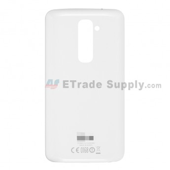 For LG G2 D802 Battery Door Replacement - White - With Logo - Grade S+