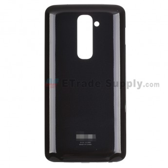 For LG G2 D802 Battery Door Replacement - Black - With Logo - Grade S+