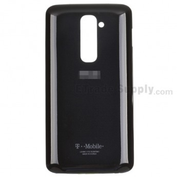 For LG G2 D801 Battery Door Replacement - Black - With Logo - Grade S+