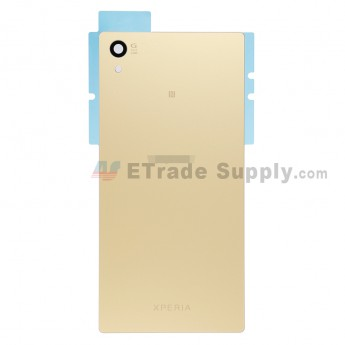 For Sony Xperia Z5 Battery Door Replacement - Gold - With Logo - Grade S+