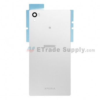 For Sony Xperia Z5 Battery Door Replacement - White - With Logo - Grade S+