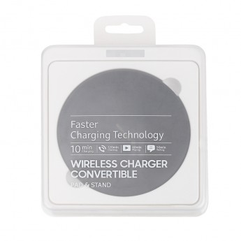 For Samsung Galaxy S8 Series Round Wireless Charging Pad Replacement - Black - Grade R