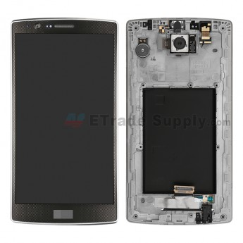 For LG G4 H815/H810/F500/H812/H811/LS991 LCD and Digitizer Assembly with Front Housing Replacement (No Small Parts) - Black - With Logo - Grade S
