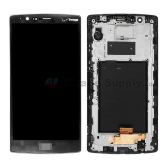 For LG G4 VS986 LCD Screen and Digitizer Assembly with Front Housing  Replacement (No Small Parts) - Black - With Logo - Grade S+